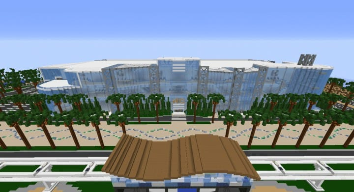 Alleron Convention Center Alleron City Minecraft building ideas amazing office city glass fancy 5