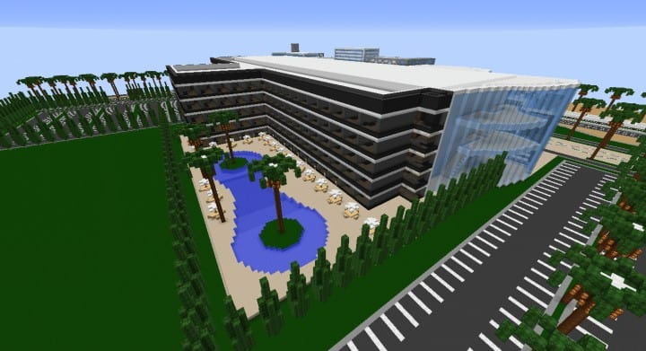 Alleron Convention Center Alleron City Minecraft building ideas amazing office city glass fancy 7