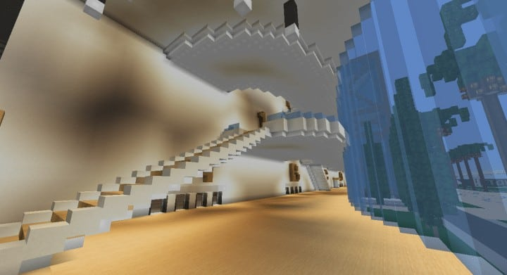 Alleron Convention Center Alleron City Minecraft building ideas amazing office city glass fancy 8