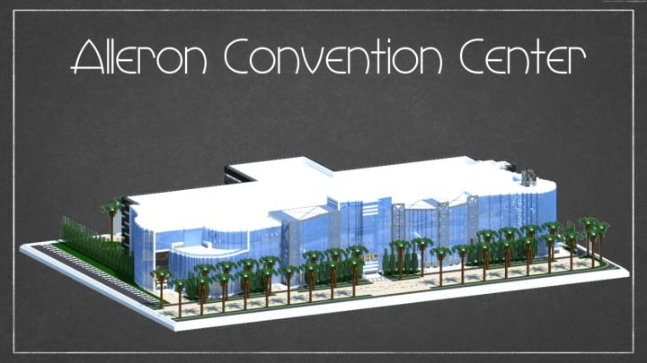 Alleron Convention Center Alleron City Minecraft building ideas amazing office city glass fancy