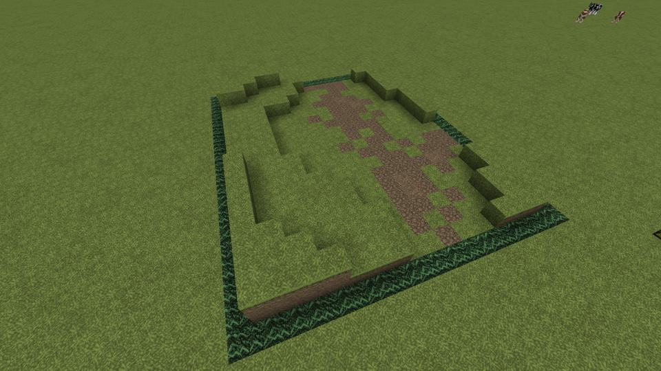Begin with your layout how to build a pretty minecraft trail 1