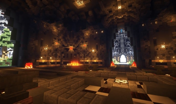 Epic Evil Themed Medieval Faction Spawn Free Large castle trees Minecraft building ideas server 3