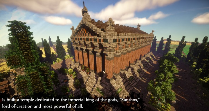 Greek Themed Temple of Xanthos Timelapse Download  Minecraft building ideas amazing conquest lore 6