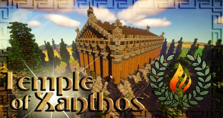 Greek Themed Temple of Xanthos Timelapse Download  Minecraft building ideas amazing conquest lore
