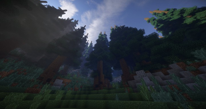 Hiraen 2k x 2k Terrain tall pine trees custom amazing minecraft building ideas world painter world machine 3
