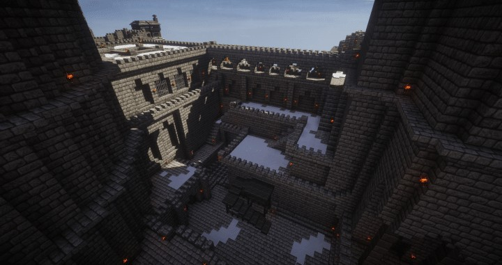 Medieval Stronghold Complex mineceraft building ideas crazy amazing castle defense 13