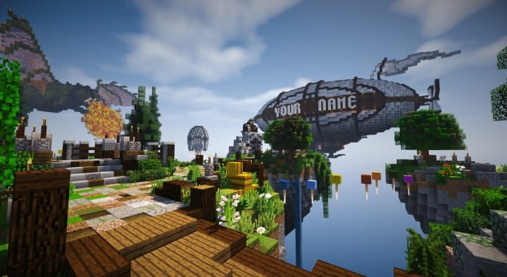 Spawn Hub Glorious Downfall download save minecraft floating islands free amazing bridges 6