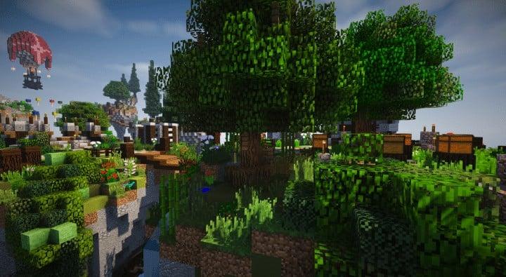 Spawn Hub Glorious Downfall download save minecraft floating islands free amazing bridges 7