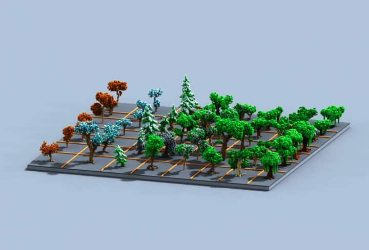 Tree bundle Download 56 trees total mincraft building ideas decor nature woods