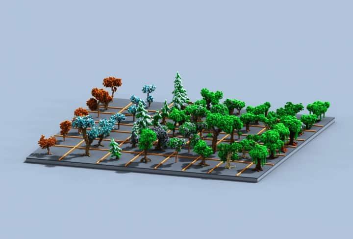 Tree bundle Download 56 trees total mincraft building ideas decor nature woods