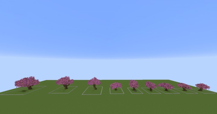 Cherry Trees Bundle 9 Cherry Trees total download save schematic amazing pink colorful pack Minecraft Building Landscape 2