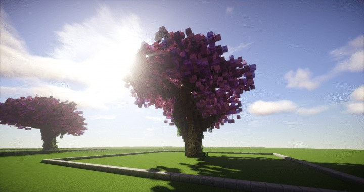 Cherry Trees Bundle 9 Cherry Trees total download save schematic amazing pink colorful pack Minecraft Building Landscape 4