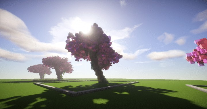 Cherry Trees Bundle 9 Cherry Trees total download save schematic amazing pink colorful pack Minecraft Building Landscape 5