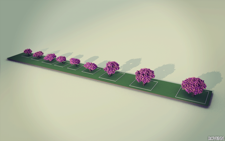 Cherry Trees Bundle 9 Cherry Trees total download save schematic amazing pink colorful pack Minecraft Building Landscape
