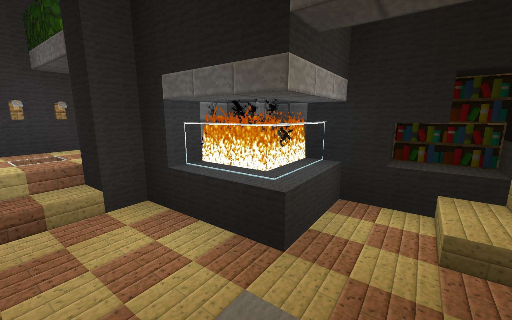 ... Interior Corner Compact Fireplace Minecraft Building Ideas Modern