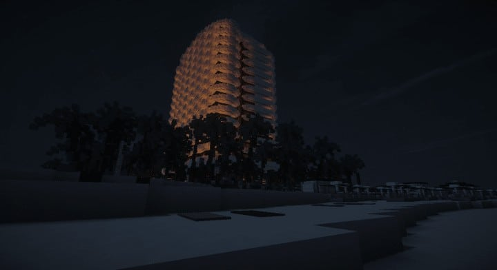 Faena  Residence beach palm trees house complete ocean lake water tower 10