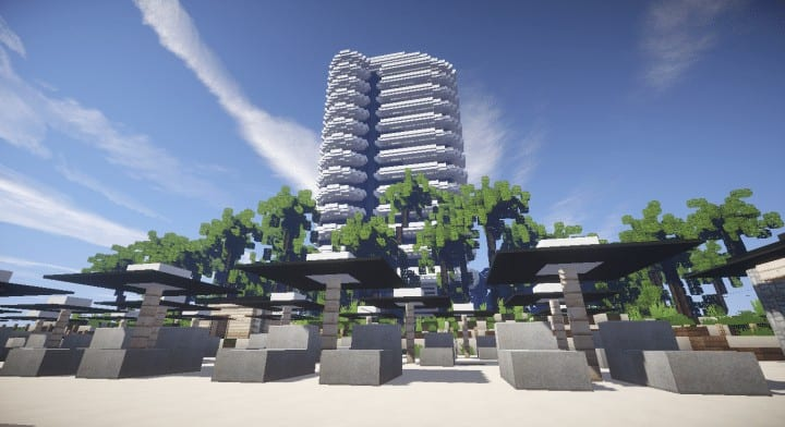 Faena  Residence beach palm trees house complete ocean lake water tower 6