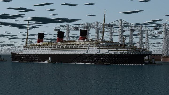 French ocean liner-SS Marseille (II) Minecraft building ideas sea download ship yard 11