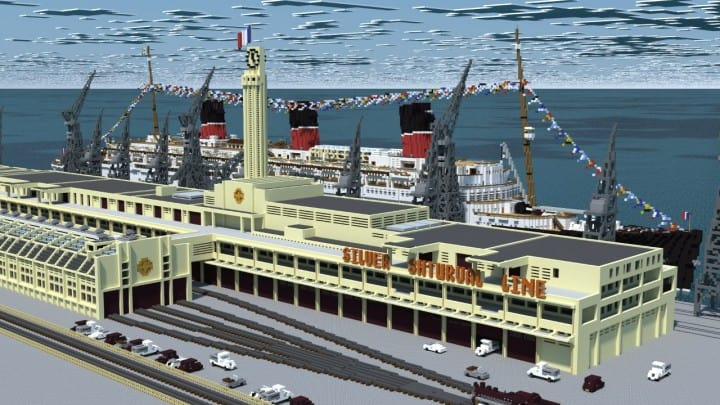 French ocean liner-SS Marseille (II) Minecraft building ideas sea download ship yard 13