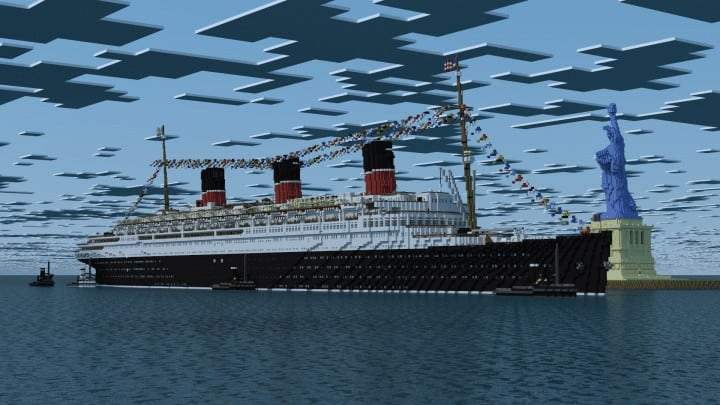 French ocean liner-SS Marseille (II) Minecraft building ideas sea download ship yard 14