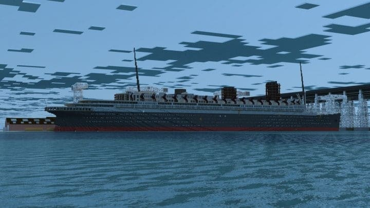 French ocean liner-SS Marseille (II) Minecraft building ideas sea download ship yard 6