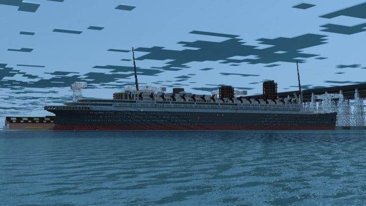 French Ocean Liner Ss Marseille Ii Minecraft