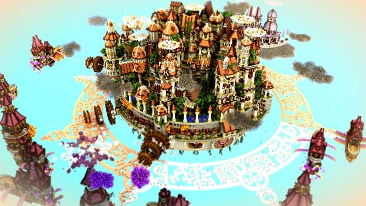 The last crusade By Hydroxys Minecraft castle building ideas download save world 4