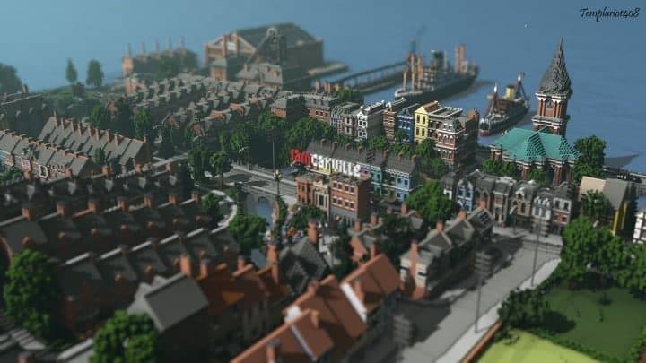 Carville Industrial city 1900-1930 v 2.0 downlaod minecraft building ideas save old amazing train industrial 2