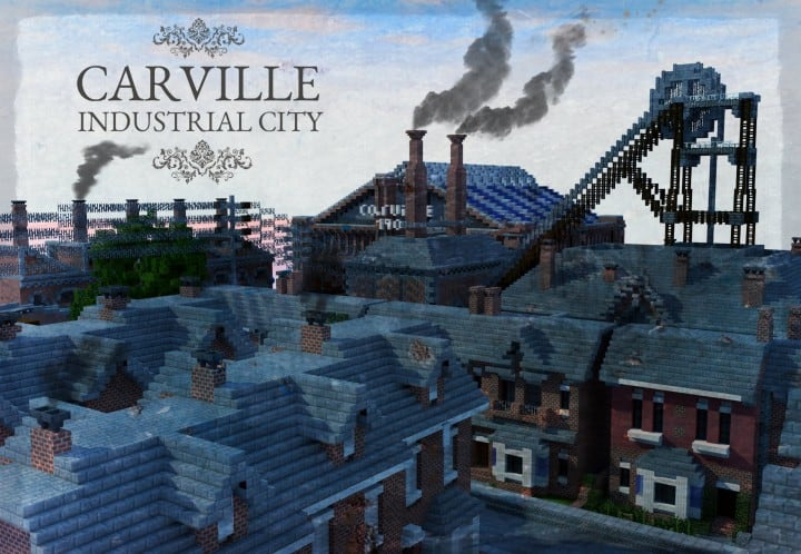 Carville Industrial city 1900-1930 v 2.0 downlaod minecraft building ideas save old amazing train industrial 3