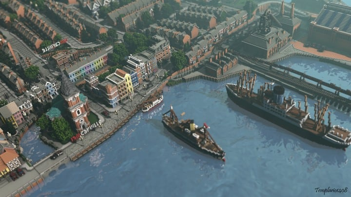 Carville Industrial city 1900-1930 v 2.0 downlaod minecraft building ideas save old amazing train industrial