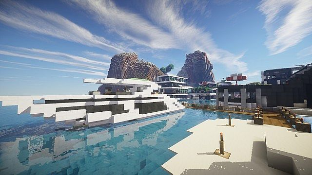Chicken Cove luxurious house addons updated beautiful download minecraft building ideas 12