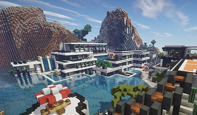 Chicken Cove luxurious house addons updated beautiful download minecraft building ideas