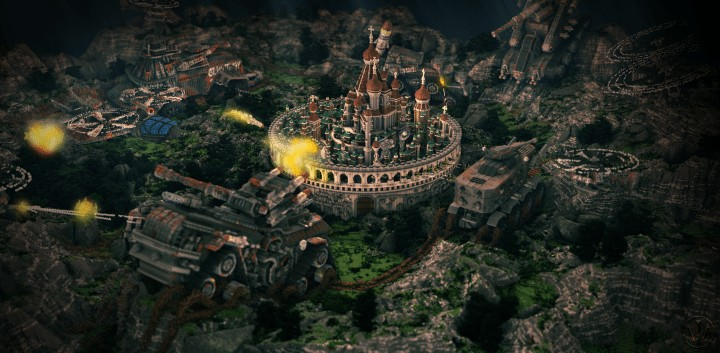 Defenseless - The Barbarians Are Coming tank minecraft building ideas war 1st place amazing download save 3