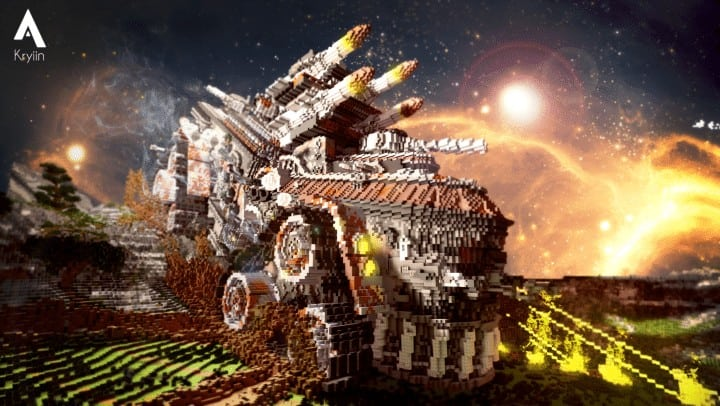 Defenseless - The Barbarians Are Coming tank minecraft building ideas war 1st place amazing download save 4