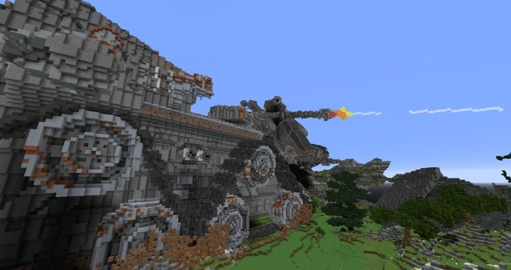 Defenseless - The Barbarians Are Coming tank minecraft building ideas war 1st place amazing download save 6