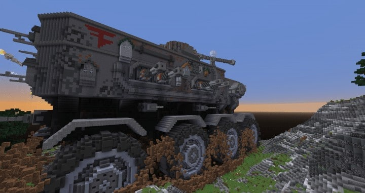 Defenseless - The Barbarians Are Coming tank minecraft building ideas war 1st place amazing download save 7