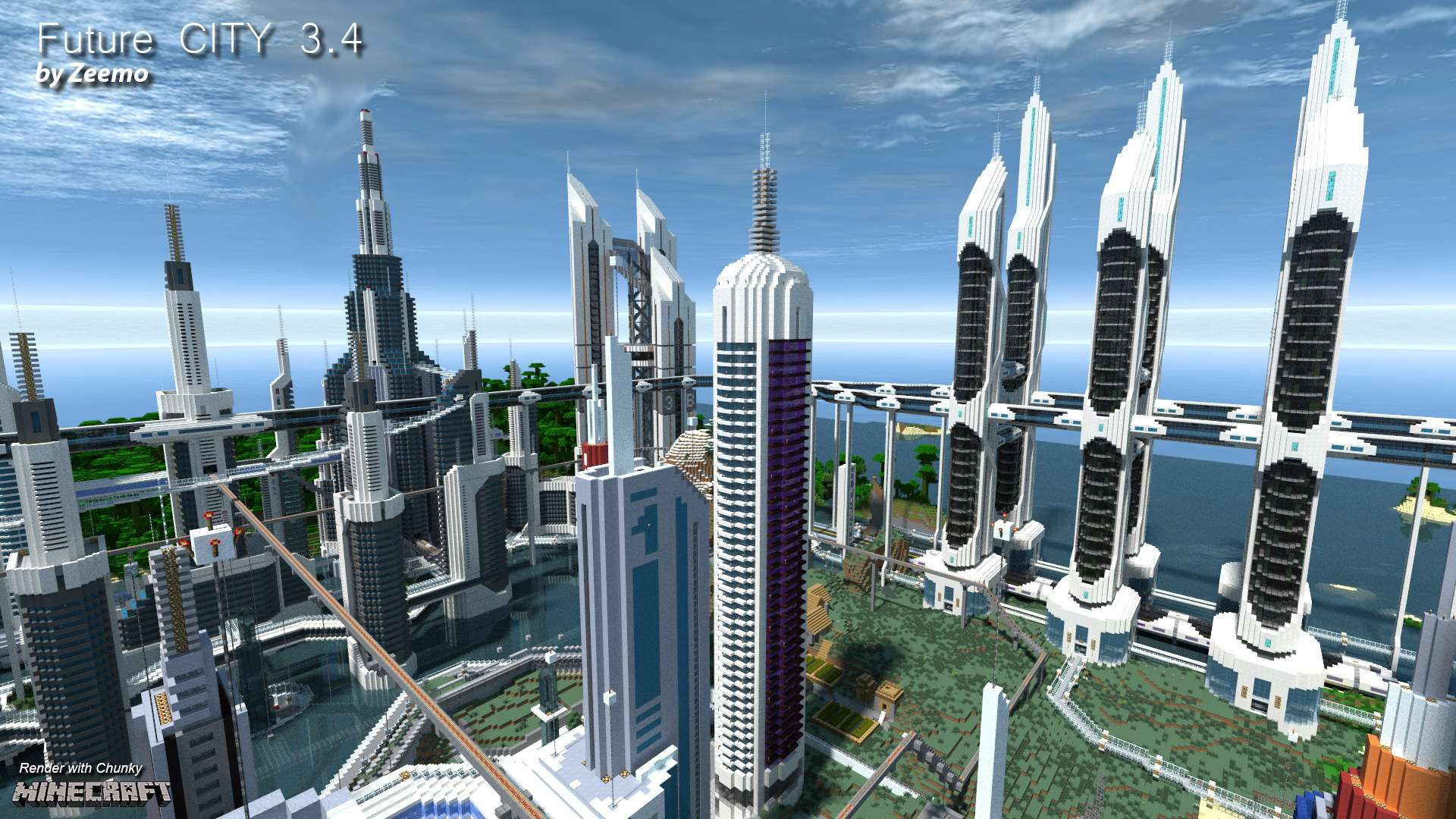 Future CITY 34 Minecraft Building Inc
