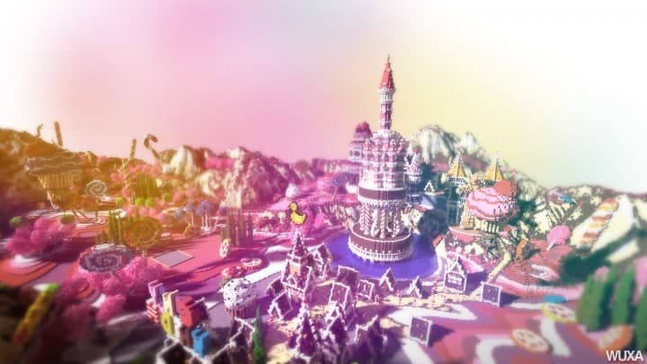 L'ilot de Langerhans - Fallen Kingdom map candyland amazing minecraft building ideas download save mountains castle 9