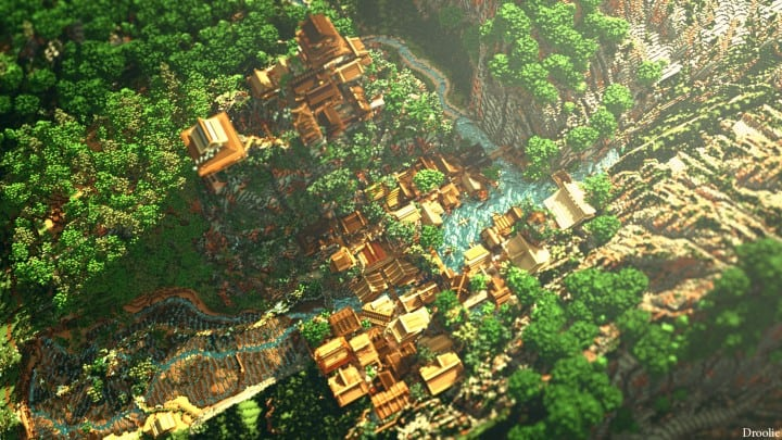 Project Kuni no tori, a japanese citadel minecraft building ideas download save amazing 8