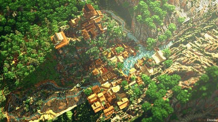 Project Kuni no tori, a japanese citadel minecraft building ideas download save amazing 8