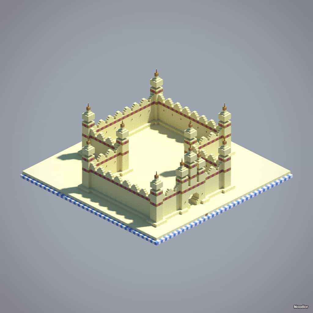 arabesque-walls-sandstone-oak-stained-clay-minecraft