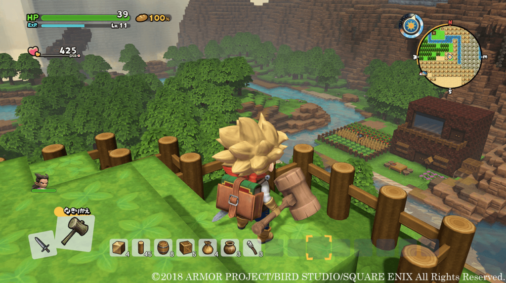 Dragon Quest Builders 2 game similar to Minecraft