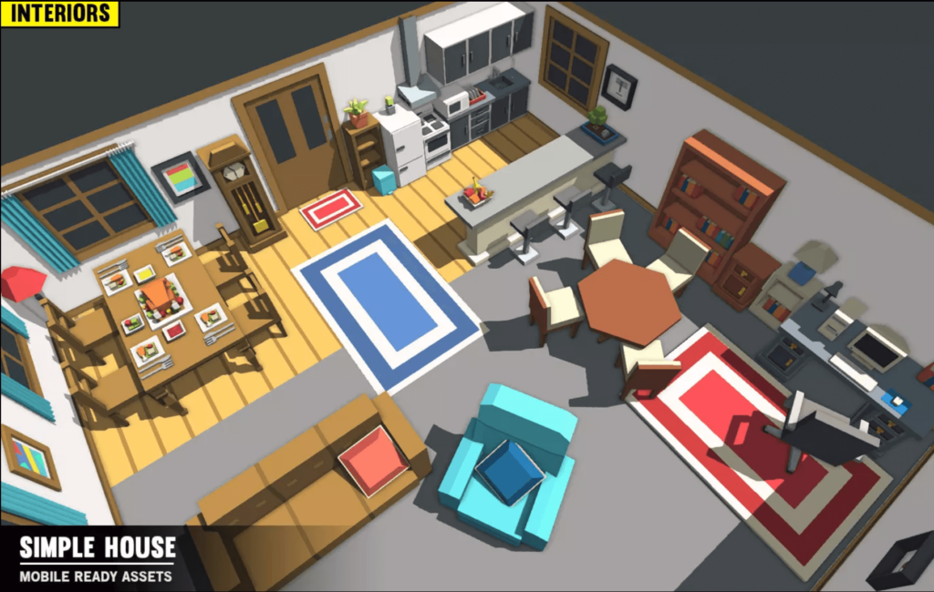 Simple House Interiors - Cartoon assets