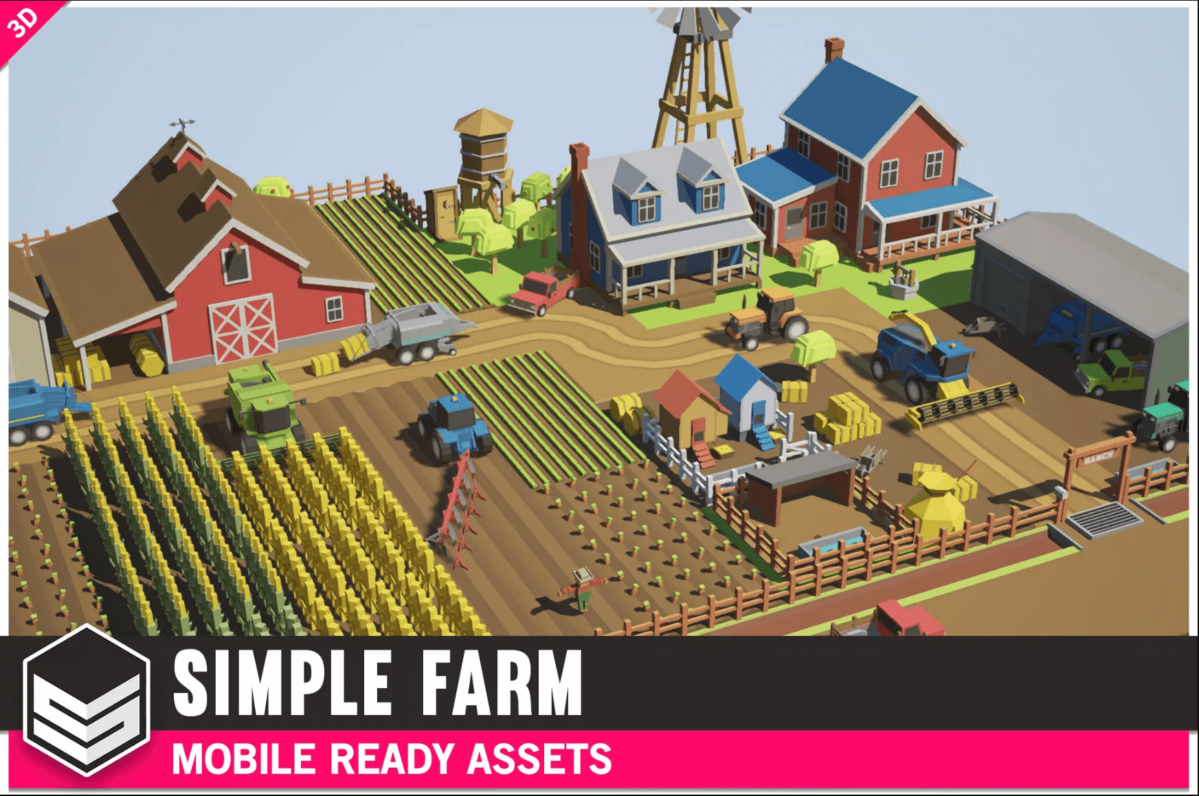 Simple Farm - Cartoon Assets