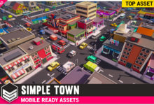 Photo of Simple Town – Cartoon Assets