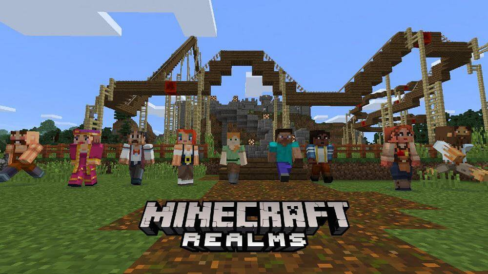 Minecraft with Realms friends