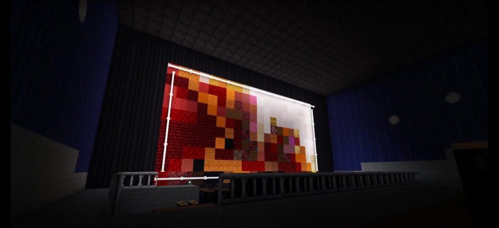 Minecraft movie screen