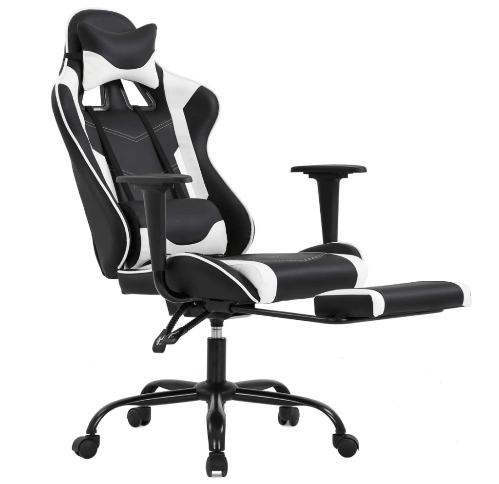 Ergonomic Chair PC Gaming with footrest