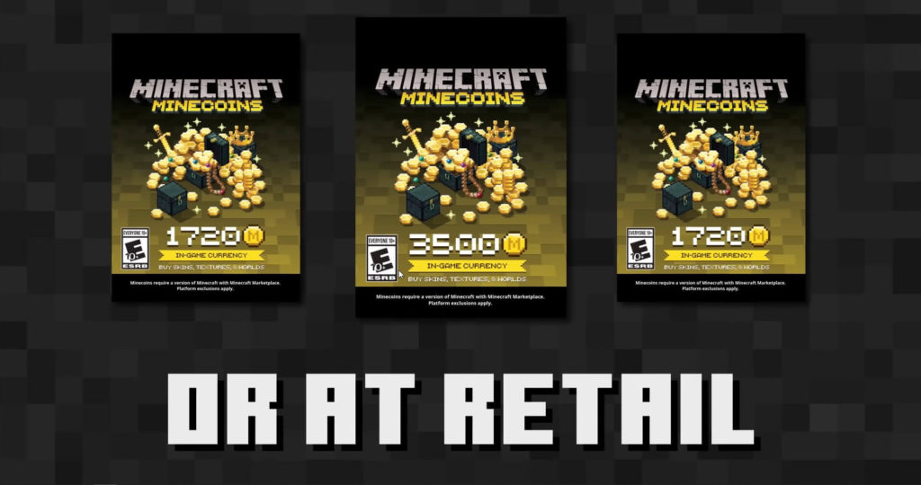 Buy Minecoins in retail