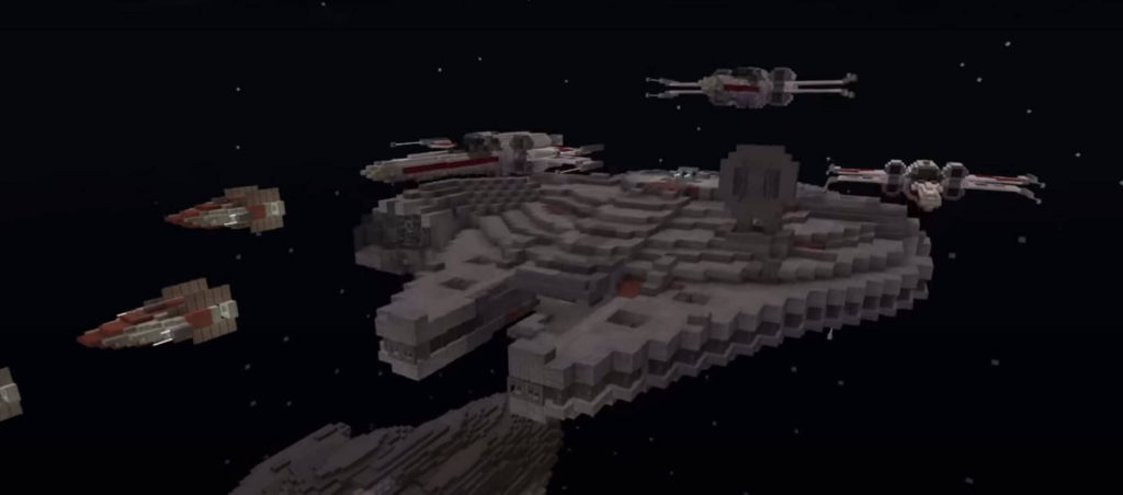Minecraft's Star Wars DLC Millenium Falcon